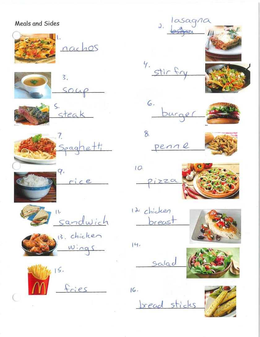 Restaurant Meals and Food Words – Elizabeth's English