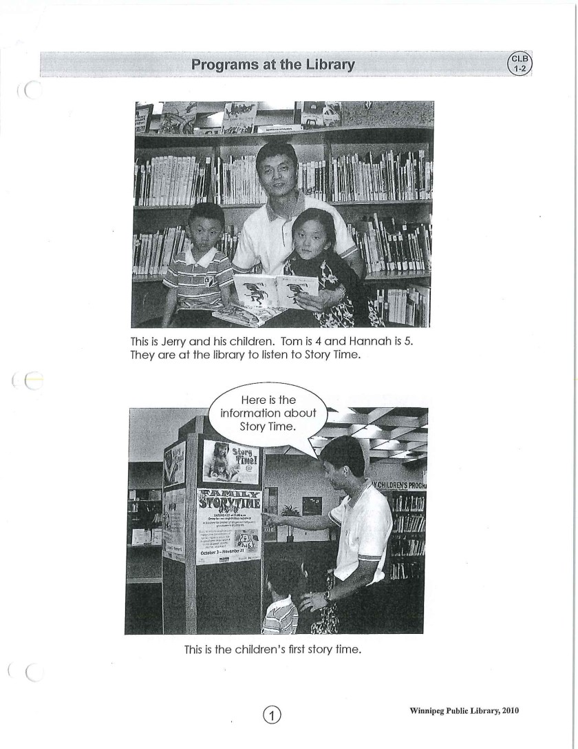 page 1 library story