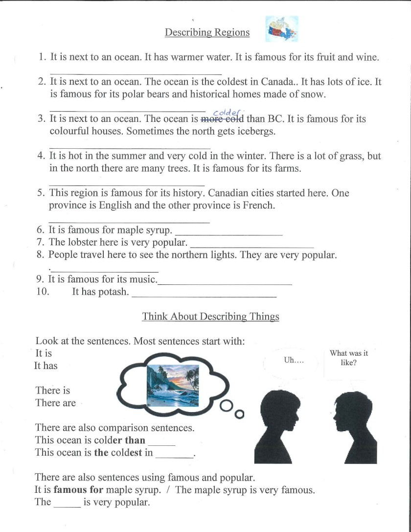 describing regions sentence examples